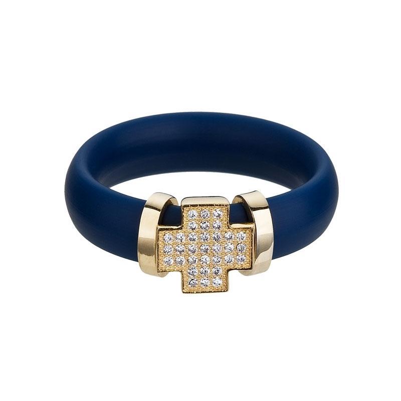 A la mode - Inel (B) de argint Preciosa (Blue)