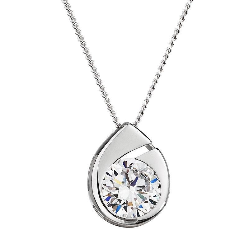 Wispy - Colier de argint Preciosa (White)