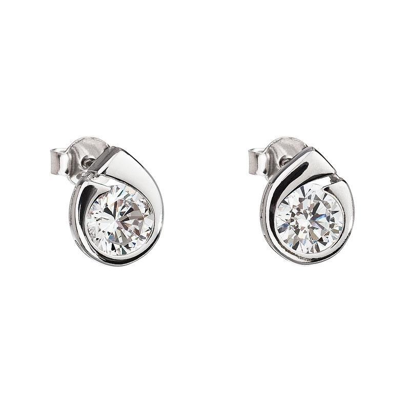 Wispy - Cercei de argint Preciosa (White)